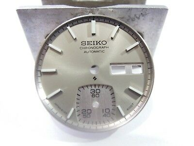 """NEW REPLACEMENT SEIKO """"GRAY"""" DIAL FITS SEIKO 6139-6040 CHRONOGRAPH MEN'S WATCH, used for sale  Shipping to United States"""