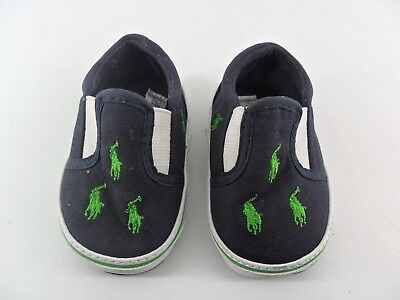 Polo Ralph Lauren Baby Slip On Trainers UK 1.5 EU 17 JS086 FF 01