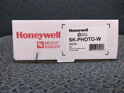 2) Addressable Photoelectric Smoke Head & Base, Silent Knight SK-PHOTO-W.