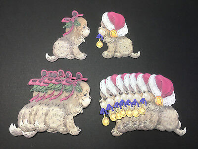 TATTERED LACE CHARISMA CHERISHED DARLINGS PUPPIES/DOG CHRISTMAS DIE CUTS
