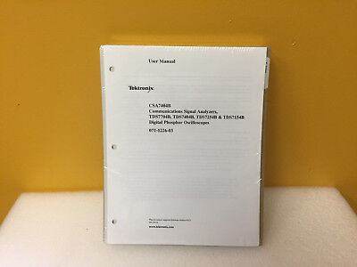 Tektronix 071-1226-03 Csa7404b Signal Analyzers Users Manual. New