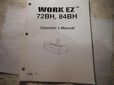 Work Ez 72bh 84bh Box Blade Operators Manual