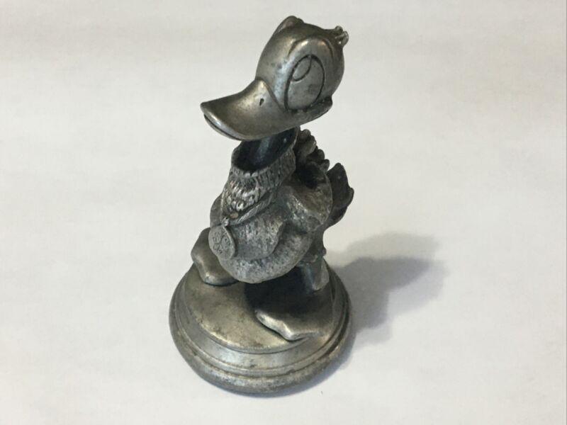 RARE Vintage Walt Disney Pewter Figurine Collectible Figure - Donald Duck