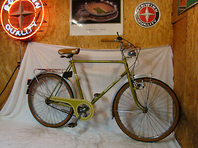 1970s HERCULES HOBBY MENS 3-SPEED ROAD CRUISER BICYCLE SPORTS RALEIGH GREEN BSA!