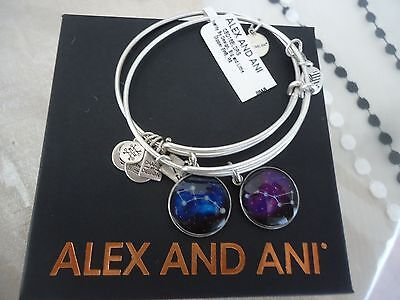 Alex and Ani BIG AND LITTLE DIPPER  Russian Silver Bangles New W/ Tag Card & Box