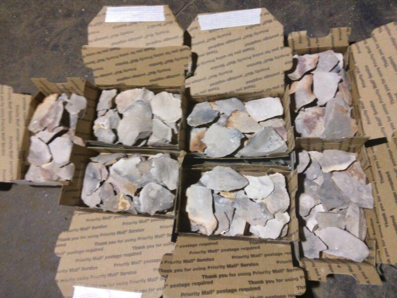 Texas Flint Heat Treated spalls and flakes. Flint and steel or flintknapping.