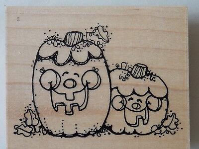 Happy Halloween Pumpkin Designs (NEW JRL Design Happy HALLOWEEN SMILES PUMPKINS Pumpkin GIGGLY Cute Rubber)