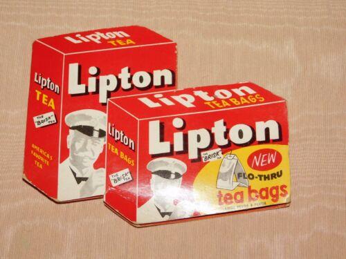 VINTAGE KITCHEN WEST GERMANY LIPTON TEA BAGS AD NEEDLE SEWING KIT