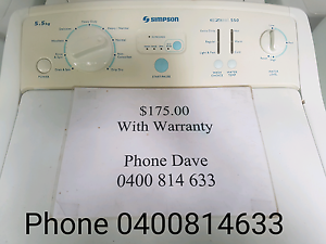 Simpson 5.5kg Washer  $175 Rosebery Palmerston Area Preview