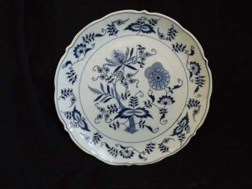 "Vintage Blue Danube Onion Round Serving Plate or Platter 12 1/4"" Mint"