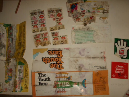 Vintage 7Up Drink Stickers Seals Seven Up UnCola Lot