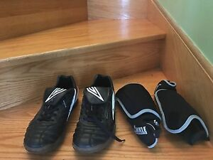 Good Condition Soccer Clears and Shin Guards (Male)