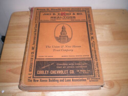 1933 PRICE & LEE NEW HAVEN CONNECTICUT  DIRECTORY