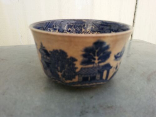 China 1909 Export Portugal whiter/ Blue Porcelaint Bowl of courtyard garden 瓷 碗