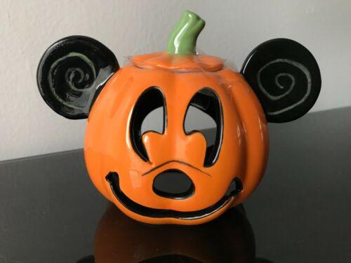 Disney Mickey Mouse Ceramic Pumpkin Small Tea Light Candle Holder BRAND NEW!
