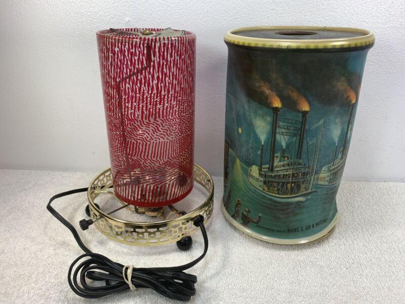 Econolite Motion Lamp Historical Race Robt. E. Lee & Natchez Riverboat For Parts