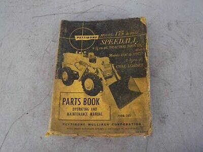 Pettibone Model 175 175d Speedall Loader Parts Operating Maintenance Manual
