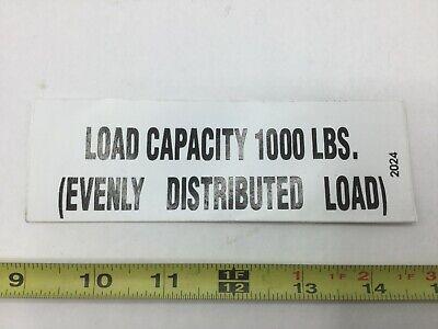 2024 Terex Load Capacity Decal Sk18200120je