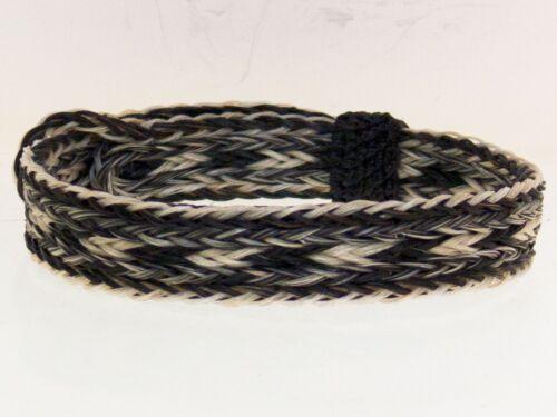 Horse Hair Bracelet One Size Fits All Salt / Pepper, Gray White Black  WIDE