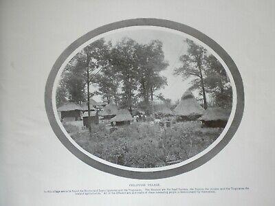 1904 World's Fair,monotype,Philippine Village ,antique