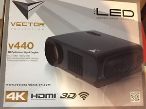 LED HD 3D 4K Home Theatre Projector and Screen
