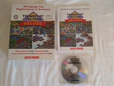 Transport Tycoon Deluxe Big Box PC CD ROM Game - Retro Gaming - 1995 MicroProse for sale  Shipping to Nigeria