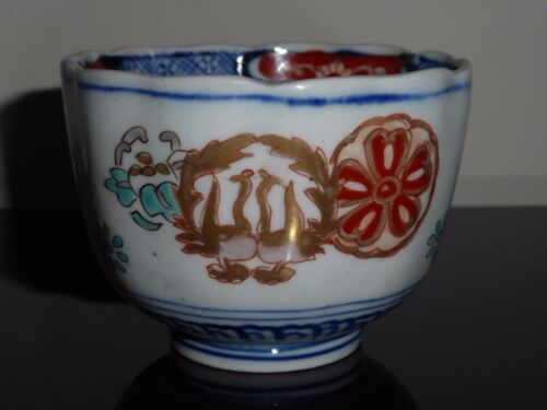 ANTIQUE JAPANESE EDO PERIOD 江戸時代 IMARI SAKE TEA CUP