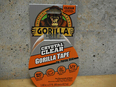 Gorilla Tape 27 Crystal Clear Adhesive Extra Thick Waterproof Repair Duct