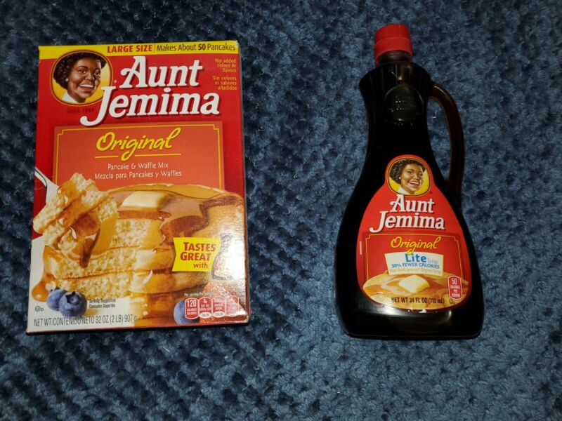Aunt Jemina Original 32 OZ Pancake Waffle Mix &  Light 24 OZ Syrup DISCONTINUED
