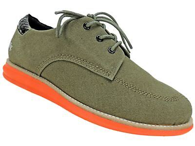 gram SCANDINAVIA Men's 380g Fashion Sneakers Army Green Coated Canvas Size 8 M