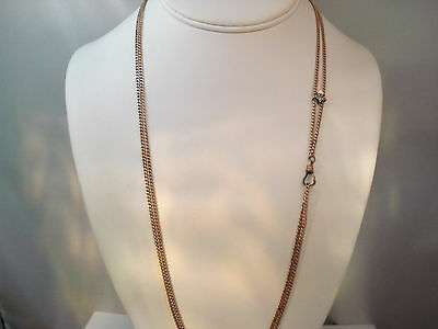 ANTIQUE VICTORIAN GOLD FILLED OPAL & SEEDPEARL CHATELAINE CHAIN NECKLACE