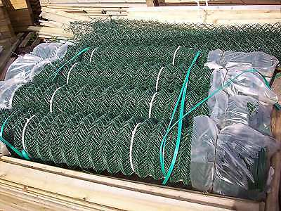 1.8m 25m roll green pvc galvanised chainlink mesh fence