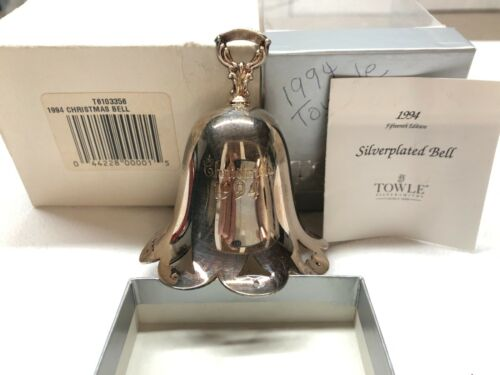 Towle SP Bell Ornament 1994 Excellent Cond. , includes box, leaflet  & sleeve