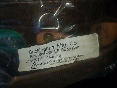 Buckingham Linemans Safety Poletree Climbing Belt 961-260 New