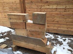 Douglas fir blocks