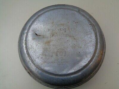 Aluminium 10 gallon Milk Churn LID circa 1960`s DAMAGED Kirby West Leicester L17