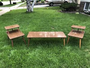 Mid Century side tables and coffee table