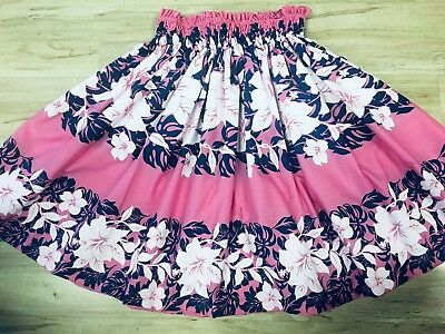 "NEW PINK BLUE HAWAIIAN PAU PA'U HULA SKIRT 29"" LONG MADE IN HAWAII for sale  Honolulu"