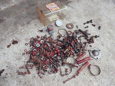 Farmall B Bn Tractor Ih Box Of Misc Bolts Nuts Parts Pieces Springs Ihc B