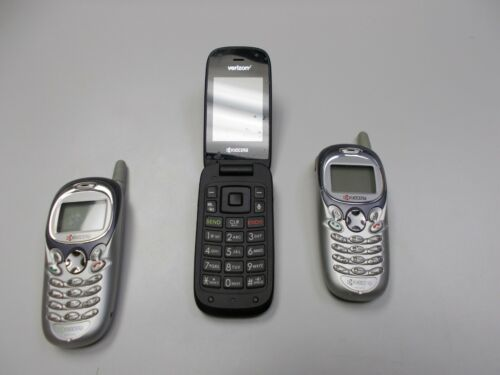 Vintage Kyocera Cell Phone Lot of 3   US Cellular  Unlocked Touch