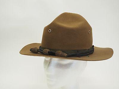 VINTAGE WWI STETSON US MILITARY CAMPAIGN HAT - SIZE 7 3/8