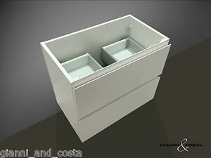 Bathroom vanity unit 600mm polyurethane wall hung cabinet only ebay for Wall mounted bathroom vanity cabinet only