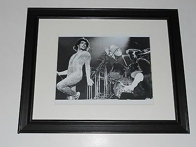 "Framed Queen Freddie Mercury / Brian May 1977 on Stage Poster 14"" by 17"""