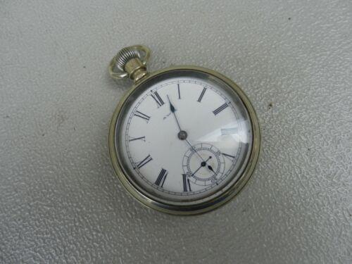 1885 A W Co Waltham Pocket watch Model 1884 Bond St. 14 S 7 Jewels Wound Tight