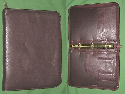 Classic 1.0 Brown Leather Franklin Quest Covey Planner 3 Ring Vintage Binder