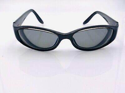 Vintage Gucci GG2566/S Black Oval Sunglasses Italy FRAMES ONLY