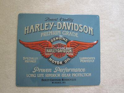 Ande Rooney HARLEY DAVIDSON GENUINE DUTY Motor Oil Tin Garage HD Motorcycle Sign