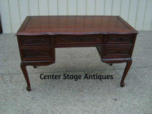 60221 Oriental Solid Mahogany Office Desk Chest