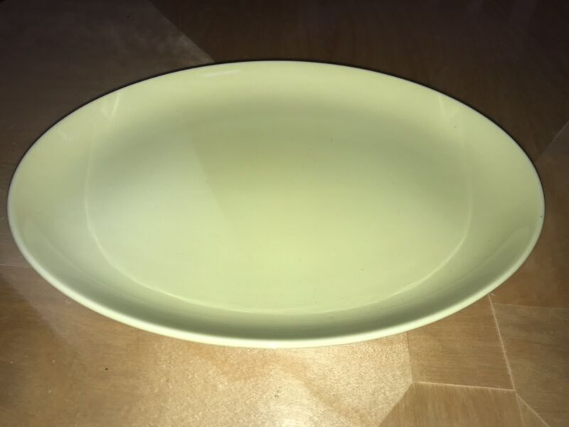 Russel Wright Large Platter yellow Iroquois casual China mcm Vintage Rare 13""