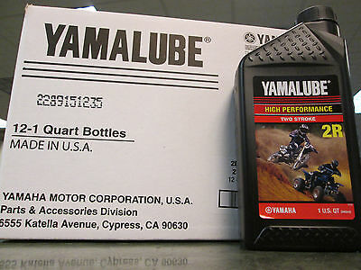 Yamalube Genuine Oil 1 Case 12 Quarts 2R Banshee YZ125 YZ250 2 Stroke Mixing Oil